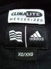adidas アディダス 長袖 ポロシャツ ボーダー シャツ ホワイト ライン ブラック XOサイズ