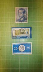 旧東ドイツ記念切手3枚(額面25)♪
