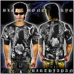 送料込ヤクザオラオラ系ブランド半袖Tシャツ/悪羅悪羅系服/クロス/13009黒2-XL