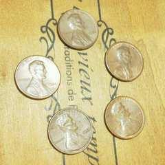 ★海外古銭★ アメリカ リバティー コイン 1セント 年号別 5枚セット 格安 D