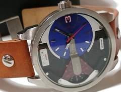 美品【箱付】1スタ★ディーゼル【2つのTIME】大型メンズ腕時計