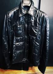 美品ドルチェ&ガッバーナ D&Gシャツ39ジャケット46ダウン黒ロゴ