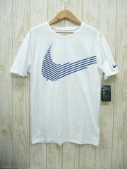 即決☆ナイキ特価スウォッシュTシャツ WHT/L 新品 半袖 ドライフィット