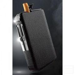 ★便利★ ライター付き タバコケース ターボライター 一体型