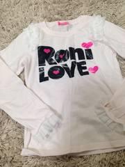 RONI・裾肩フリルロンT・ピンク・M