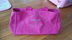 超美品 正規品プラダPRADAカナパトート 大人気ピンク