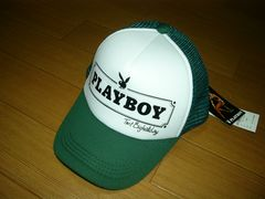 新品TMT×PLAYBOYメッシュキャップ緑1プレイボーイ