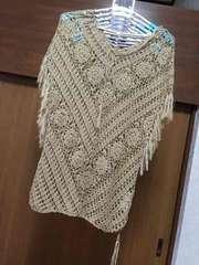 美品 セシルマクビー かぎ編みトップス