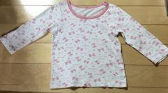 西松屋 肌着 女の子 110 長袖 リボン ピンク