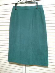 グリーン緑★膝丈タイトスカート★シンプル