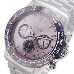 エルジン ELGIN クオーツ クロノ メンズ 腕時計 ピンク