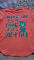 Jenni♪半袖Tシャツ140☆ジェニィ☆画像より明るいオレンジです