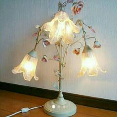 薔薇&百合 シャンデリア テーブルランプ ライト アンティーク