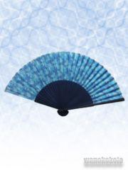 【和の志】女性用扇子◇ブルー系・迷彩柄◇JS09-1