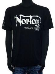 新品182N1004ノートンNorton吸水速乾ユニオンジャックTシャツ黒L