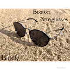 サングラス ボストン  ミラーレンズ 伊達メガネ UV400 スモーク