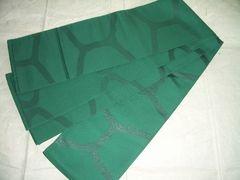 大きな網目紋様の 正絹半幅帯