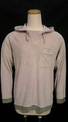 NIKE〓刺繍ロゴ&パイルフード付き長袖トップス〓パーカー〓ベージュ 140~150cm