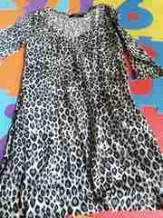 豹柄 ヒョウガラ 五分袖 七分袖 カットソー Tシャツ