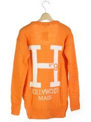◆新品◆ハリウッドメイド◆カーディガン◆オレンジ・13,800円!!