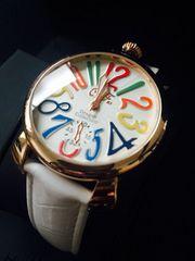 お洒落デザイン♪レディース腕時計Club Face2白