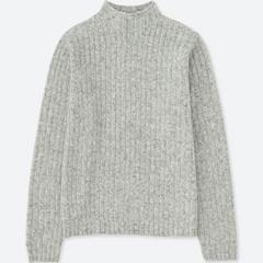 UNIQLO ワイドリブモックネックセーター未使用!即決価格