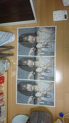 朝日新聞広告.山本彩.同じ物3枚セットです。