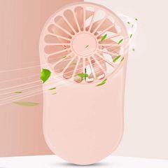 *ピンク*  ハンディファン ミニ扇風機 USB扇風機 ストラップ