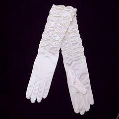 ★ウェディンググローブ・手袋★シャーリングサテン・生成り