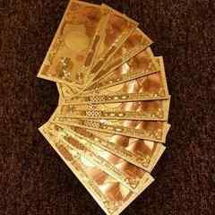 【送無】3枚セット/24K純金箔1万円札フルゴールドバージョン
