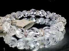 パワーストーン☆天然石!!スクリュー螺旋水晶10ミリ12ミリ§銀ロンデル§数珠ブレス
