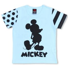 新品BABYDOLL☆ディズニー ミッキー Tシャツ 100 ブルー ベビードール