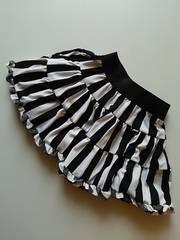 jenni  白×黒ストライプスカート(130)