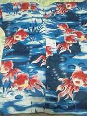 ☆新柄青紺×金魚大柄ダボシャツ3L
