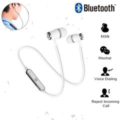 Bluetooth イヤホン ワイヤレス イヤホンマイク シルバー