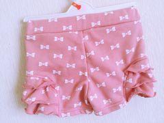 リボン柄ショートパンツ100ピンク
