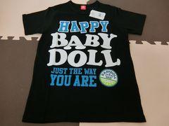 ♪新品 BABYDOLL HAPPYTシャツ ブラック Lサイズ♪