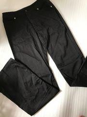 美品 黒ブーツカットパンツ w61 薄手