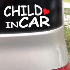 CHILD IN CAR ハート付/ステッカー(白)cmc-tyoeチャイルド