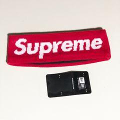◆美品 SUPREME シュプリーム  ヘアバンド 赤 レッド