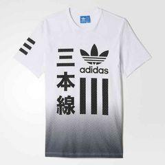 adidas oliginals★オリジナルスTシャツ 3本線 B/W TEE レア新品