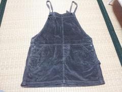 美品☆w closet☆ジャンパースカート☆カーキ