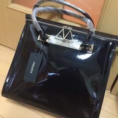 新品◆エナメルバッグ◆ブラックmoussy
