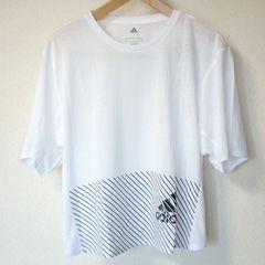 新品◆アディダス  白クライマライトロゴTシャツ(OT)