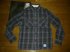 NEIGHBORHOODネイバーフッドLOGGERチェックシャツS紫11
