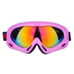 ゴーグル スキー スノボー UVカット ピンク