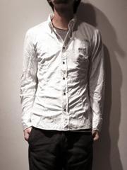 新品!!(定価32400)バックラッシュBACKLASH・シワ加工シャツ