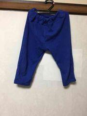 子供服/長ズボン/パンツ/ブルー/130cm/保育園着
