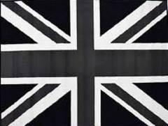 ★ユニオンジャック 白黒 特大フラッグ イギリス国旗★