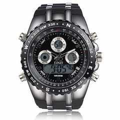 [ビンズ] BINZI 軍事腕時計 アナデジ表示 メンズ